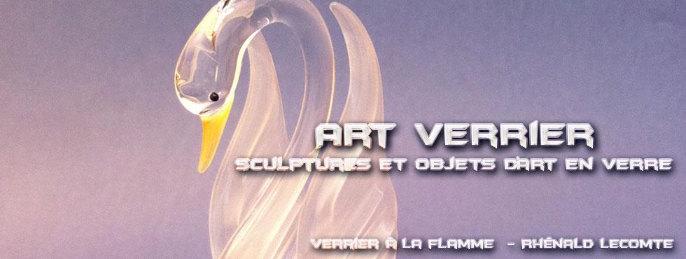 Art Verrier - Cadeaux poétiques et sculptures douceur - Rhénald Lecomte - Artiste verrier au chalumeau - La Gacilly