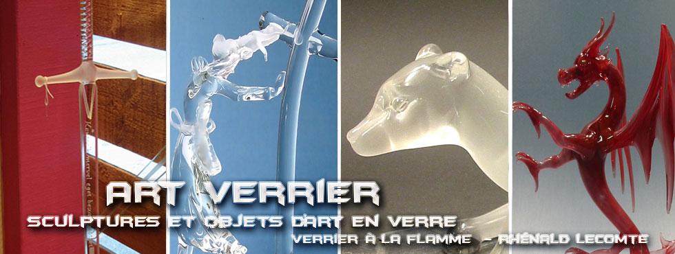 Art Verrier - Cadeaux d'art en verre évocateurs de la Bretagne - Rhénald Lecomte - Artiste verrier au chalumeau - La Gacilly