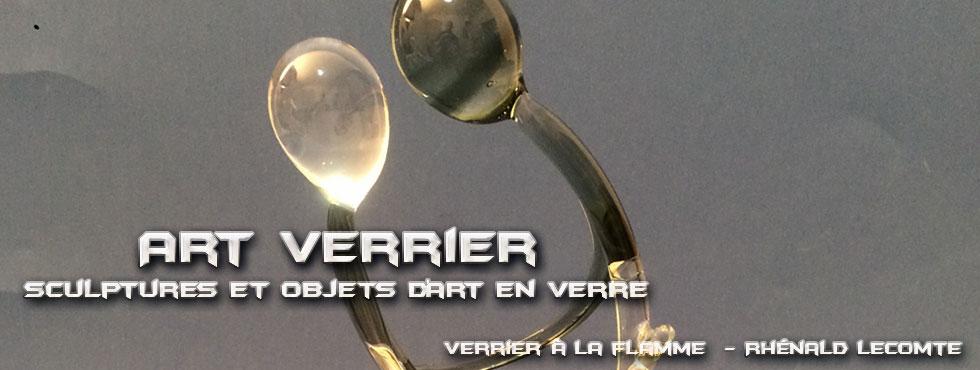 Art Verrier - Cadeaux couple amoureux - Rhénald Lecomte - Artiste verrier au chalumeau - La Gacilly