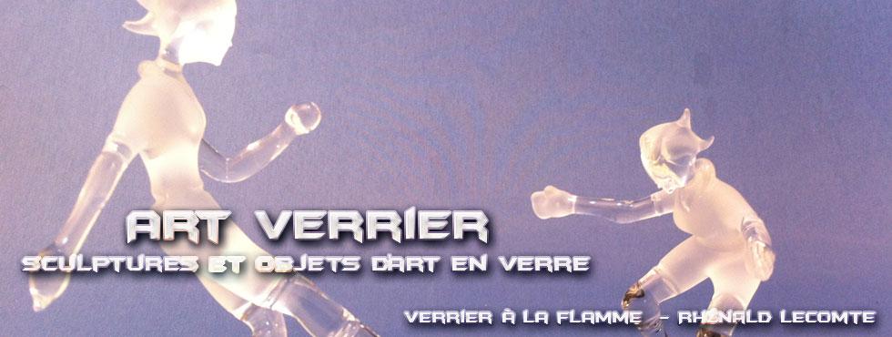 Art Verrier - Cadeaux passion foot - Statuettes footballeuses - Rhénald Lecomte - Artiste verrier au chalumeau - La Gacilly