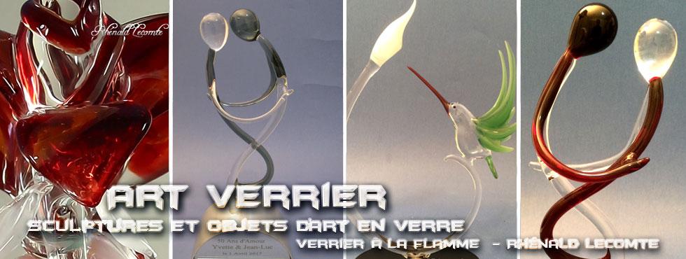 Art Verrier - Cadeaux d'art rencontre amoureuse - Rhénald Lecomte - Artiste verrier au chalumeau - La Gacilly