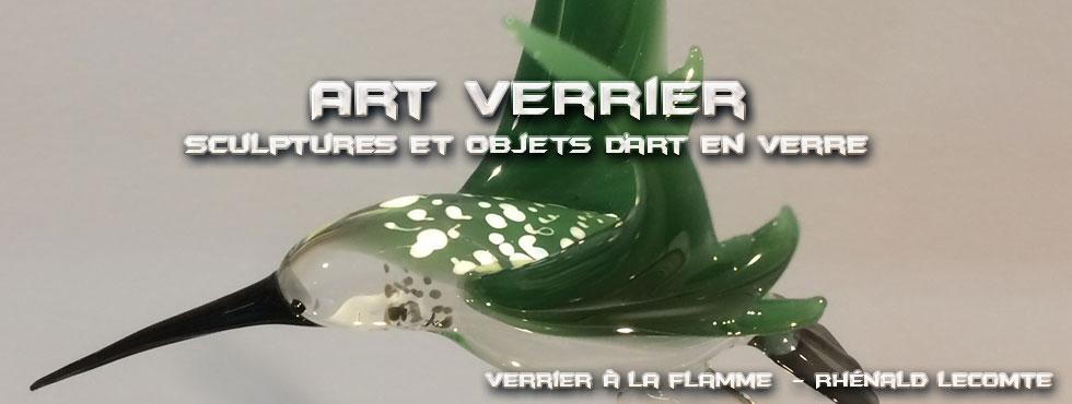 Sculptures animalières - Colibris sculptés en verre - Rhénald Lecomte - Artiste verrier au chalumeau - La Gacilly