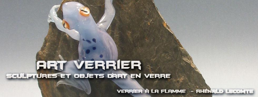 Art Verrier - Sculptures animalières - Grenouilles en verre sculptées à la flamme - Rhénald Lecomte - Artiste verrier au chalumeau - La Gacilly