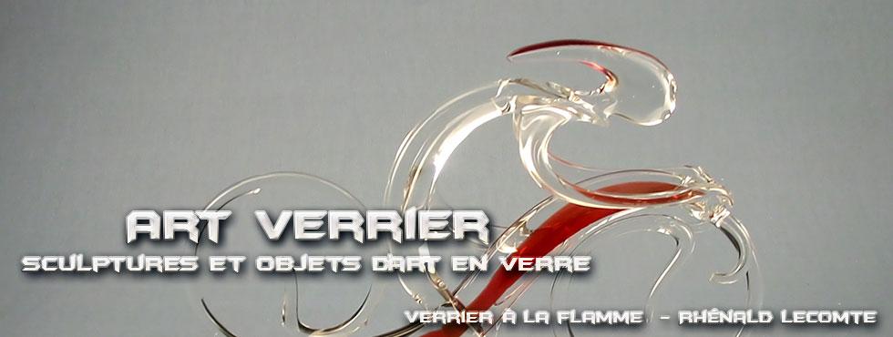 Art Verrier - Cadeaux d'art cyclisme et sculptures design - Rhénald Lecomte - Artiste verrier au chalumeau - La Gacilly
