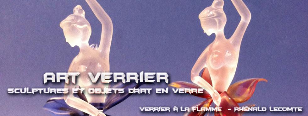 Art Verrier - Sculptures poétiques et sculptures douceur - Femmes-fleurs en verre - Rhénald Lecomte - La Gacilly
