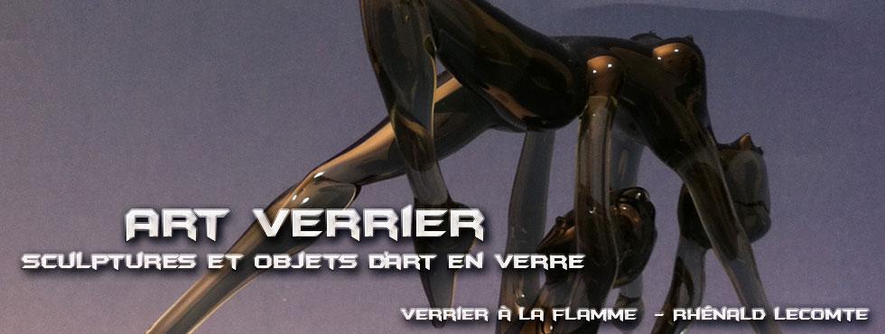 Art Verrier - Flacons décoratifs danse - Objets d'art et sculptures en verre - Rhénald Lecomte - Artiste verrier au chalumeau - La Gacilly