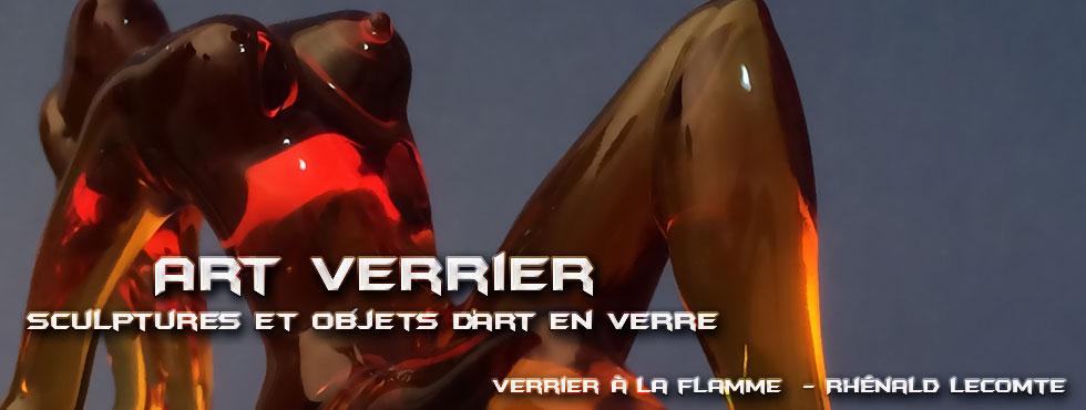 Art Verrier - Sculptures beauté féminine - Corps de verre - Rhénald Lecomte - Artiste verrier au chalumeau - La Gacilly