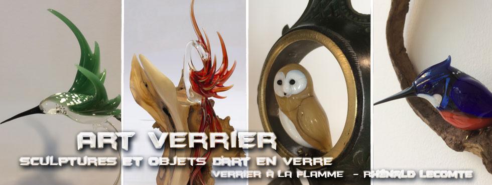 Art Verrier - Sculptures oiseaux en verre - Rhénald Lecomte - Sculpteur animalier au chalumeau - La Gacilly