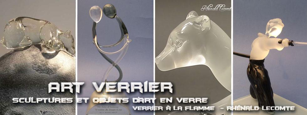 Art Verrier - Cadeau d'art artisanal et sculpture en verre - Rhénald Lecomte - Artiste verrier au chalumeau - La Gacilly